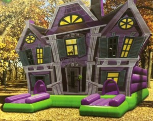 Haunted house bounce house.