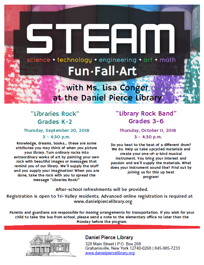 "STEAM ""Library Rock Band"" Program (Grades 3-6)"